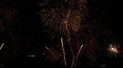 Copacabana Fireworks New Year Evee Stock Footage