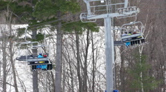 Quad Chair Lift Stock Footage