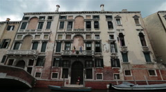 Venice Italy government building along canal HD 4080 Stock Footage
