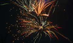 New year firework Stock Photos