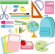 School supplies Stock Illustration