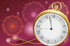 new year celebration - stock illustration