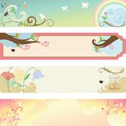 spring season banner - stock illustration
