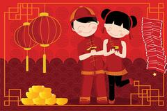 Stock Illustration of chinese new year celebration