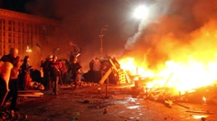 Riots in Kiev 3 - stock footage