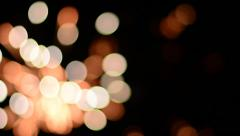 Beautiful bokeh of fireworks display Stock Footage