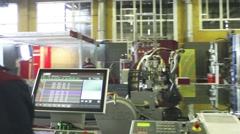 Production of Windows: robot cut glass Stock Footage