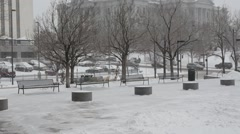 Colorado State Capitol Building during Blizzard Stock Footage