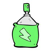 comic cartoon spray can - stock illustration