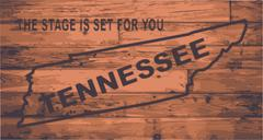 Tennessee map brand Stock Illustration