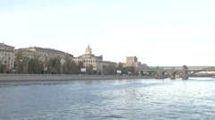 RUSSIA  MOSCOW river Stock Footage