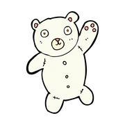 comic cartoon cute polar teddy bear - stock illustration