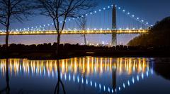 George Washington Bridge by night - stock photo