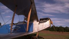 1918 Curtiss JN-4 Jenny Pan Down Stock Footage