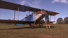 1918 Curtiss JN-4  Jenny Start Stock Footage