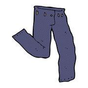 comic cartoon jeans - stock illustration
