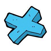 Stock Illustration of comic cartoon negative cross symbol