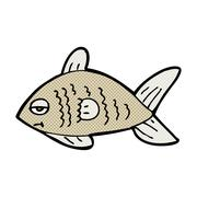 Stock Illustration of comic cartoon funny fish
