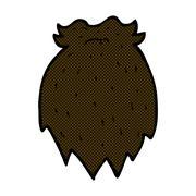 Stock Illustration of comic cartoon fake beard