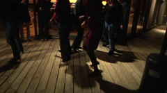 Dancing Legs At a Country Shin Dig Stock Footage