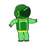 Stock Illustration of comic cartoon astronaut