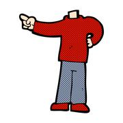 Stock Illustration of comic cartoon pointing body (mix and match comic cartoons or add own photos)