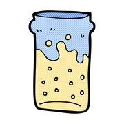 Stock Illustration of comic cartoon pint of beer