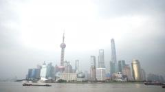 Real time Shanghai skyline Stock Footage