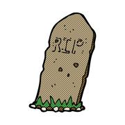 Stock Illustration of comic cartoon spooky grave