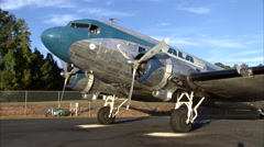 Douglas DC-3 Pre-Start Stock Footage