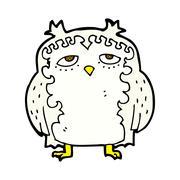 Stock Illustration of comic cartoon wise old owl