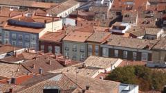 Aerial view of Burgos Stock Footage