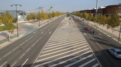 Road at grounds of Expo 2008 Stock Footage