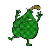 Stock Illustration of a nice pear comic cartoon
