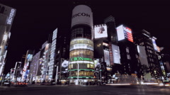 4K timelapse of Ginza street Tokyo Stock Footage
