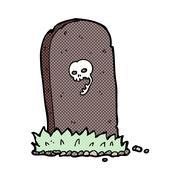 Stock Illustration of comic cartoon spooky grave