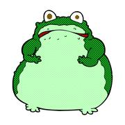 Stock Illustration of comic cartoon fat frog