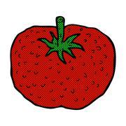 Stock Illustration of comic cartoon tomato