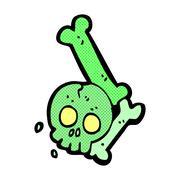 comic cartoon halloween bone number - stock illustration