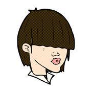 Stock Illustration of comic cartoon fashion haircut