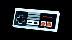 Stock Video Footage of Nintendo Joystick / Controller - Motion Graphic Effect