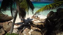 Hidden beach Stock Footage