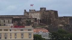 San Juan Skyline in Puerto Rico Stock Footage