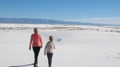 Stock Video Footage of White Sands National Monument