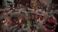 Nativity village animation with lights Stock Footage