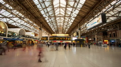 Concourse, Victoria Station, London. UK - stock footage