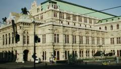 TIME LAPSE Vienna state opera - zoom Stock Footage