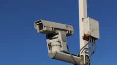 surveillance/traffic camera - stock footage