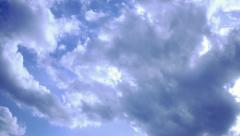 TIME LAPSE summer clouds Stock Footage