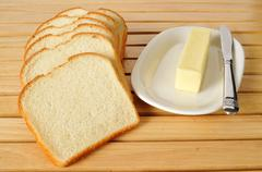 Stock Photo of bread and butter